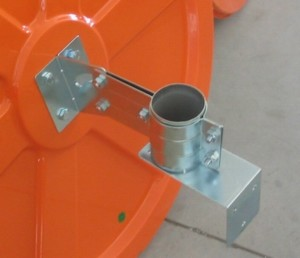 convex mirror pole connector with extra wall bracket 88