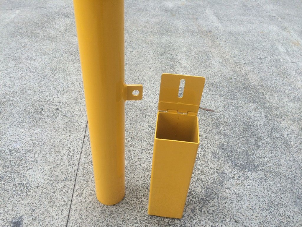 Hinged Cover Plate Removable Bollard Bollards Qld Australia